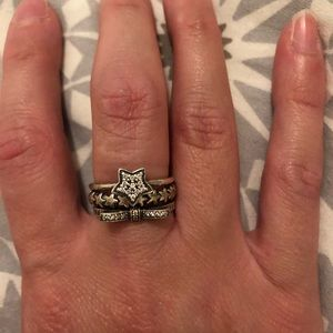 Pandora set of 3 stackable rings